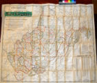 Lewis Baker & Co.'s new railroad, county and district model map of West Virginia and the...